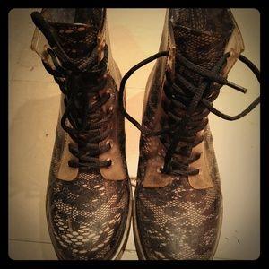 Laced Rain boots